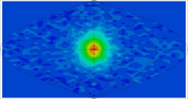 Neutrina słoneczne obserwowane przez Super-Kamiokande. (źródło: http://www-sk.icrr.u-tokyo.ac.jp/)