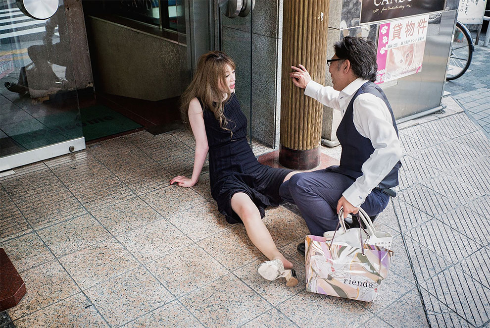 Szokujące zdjęcia pijanych Japończyków
