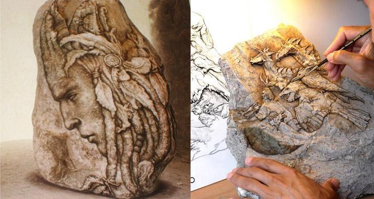 Ciekawe.org Gustavo Ciruelo Cabral Petropicto, czyli obrazy malowane na kamieniach