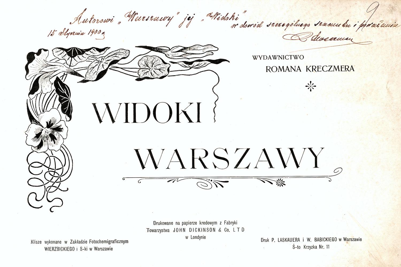Ciekawe.org Widoki Warszawy 1899 r. Strona tytułowa
