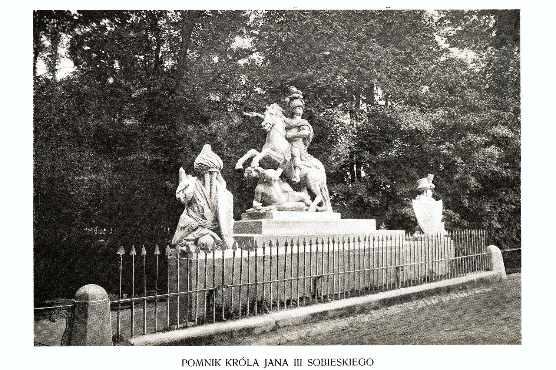Ciekawe.org Widoki Warszawy 1899 r. Pomnik Króla Jana III Sobieskiego
