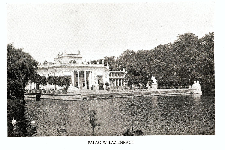 Ciekawe.org Widoki Warszawy 1899 r. Pałac w Łazienkach