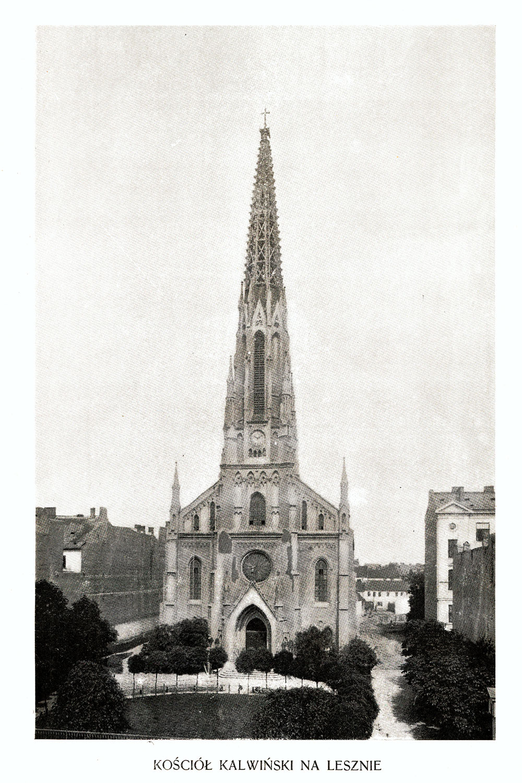 Ciekawe.org Widoki Warszawy 1899 r. Kościół Kalwiński na Lesznie