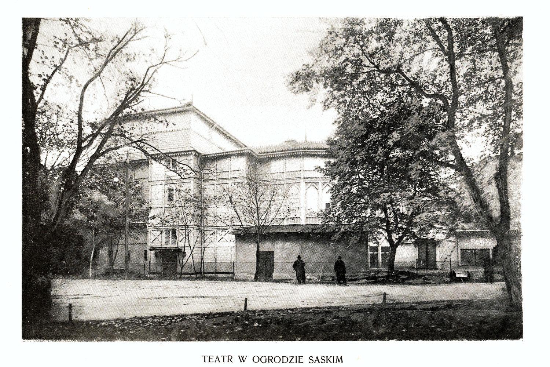 Ciekawe.org Widoki Warszawy 1899 r. Teatr w Ogrodzie Saskim
