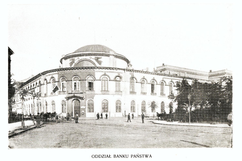 Ciekawe.org Widoki Warszawy 1899 r. Oddział Banku Państwa