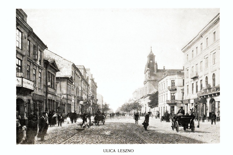 Ciekawe.org Widoki Warszawy 1899 r. Ulica Leszno