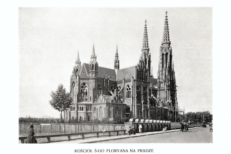 Ciekawe.org Widoki Warszawy 1899 r. Kościół Świętego Floryana na Pradze