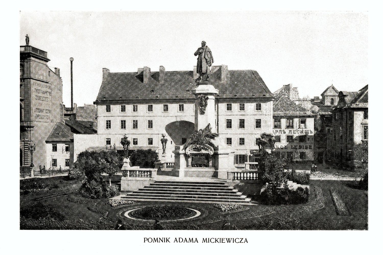 Ciekawe.org Widoki Warszawy 1899 r. Pomnik Adama Mickiewicza