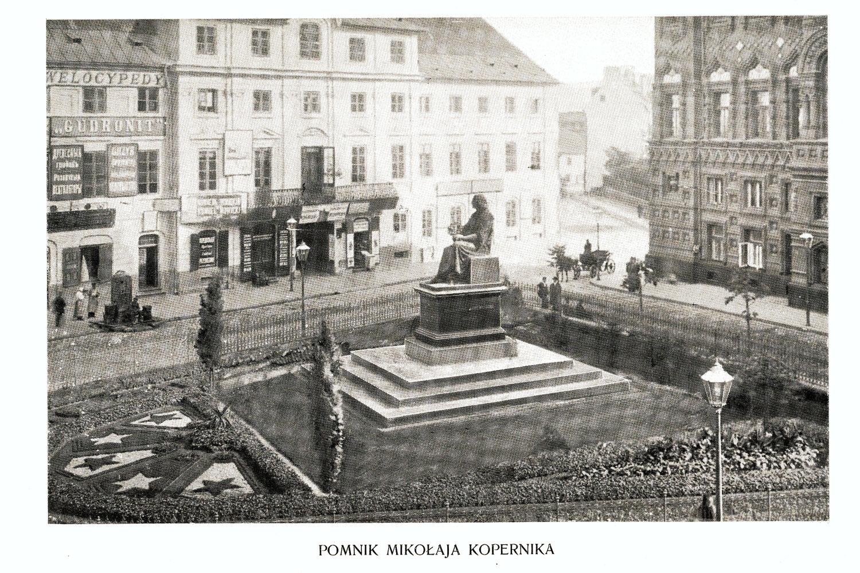 Ciekawe.org Widoki Warszawy 1899 r. Pomnik Mikołaja Kopernika