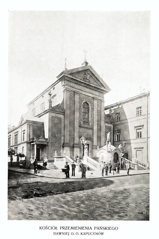 Ciekawe.org Widoki Warszawy 1899 r. Kościół Przemienienia Pańskiego (daw. o. o. Kapucynów)