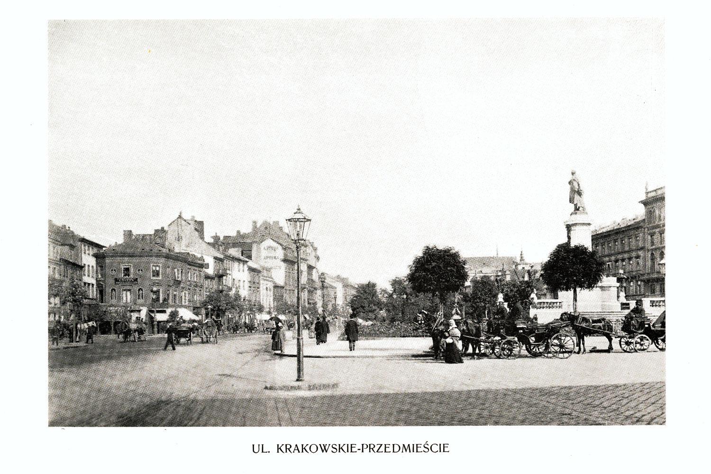 Ciekawe.org Widoki Warszawy 1899 r. Ulica Krakowskie Przedmieście