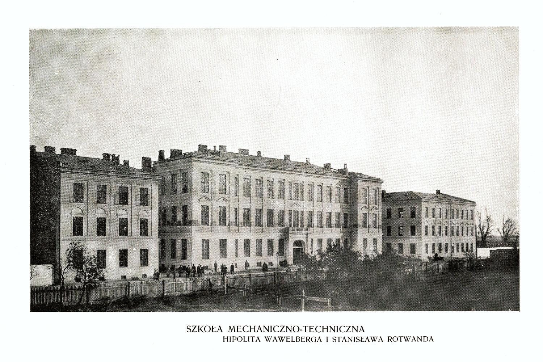 Ciekawe.org Widoki Warszawy 1899 r. Szkoła mechaniczno-techniczna Hipolita Wawelberga I StanisławaRotwanda