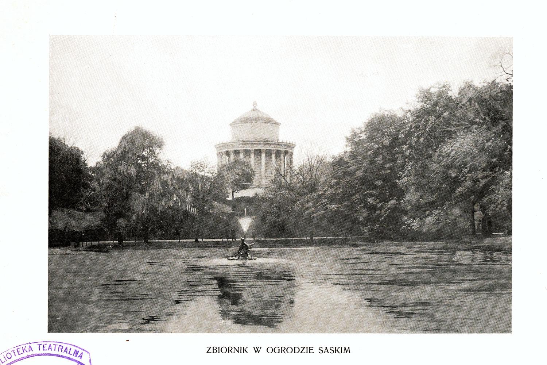 Ciekawe.org Widoki Warszawy 1899 r. Zbiornik w Ogrodzie Saskim