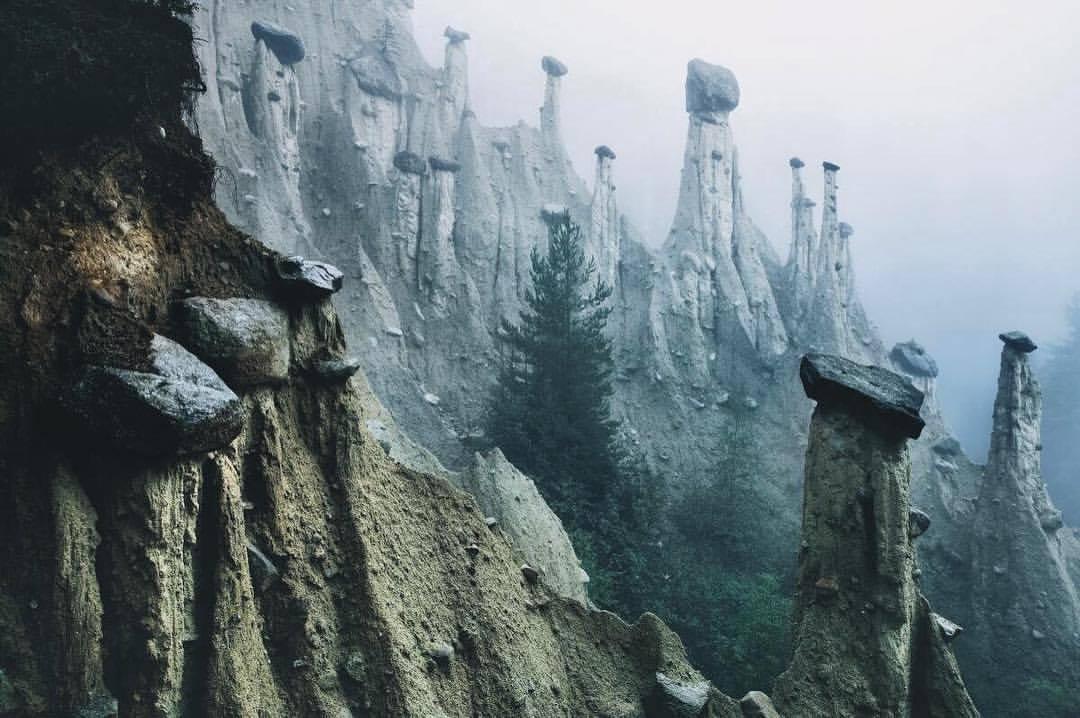 Krajobraz we włoskich Alpach