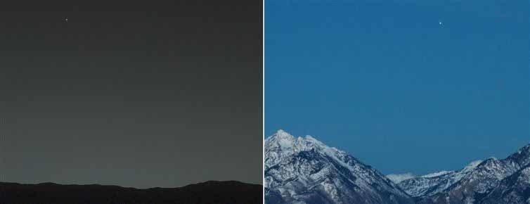 Ziemia widziana z Marsa i Mars widziany z Ziemi