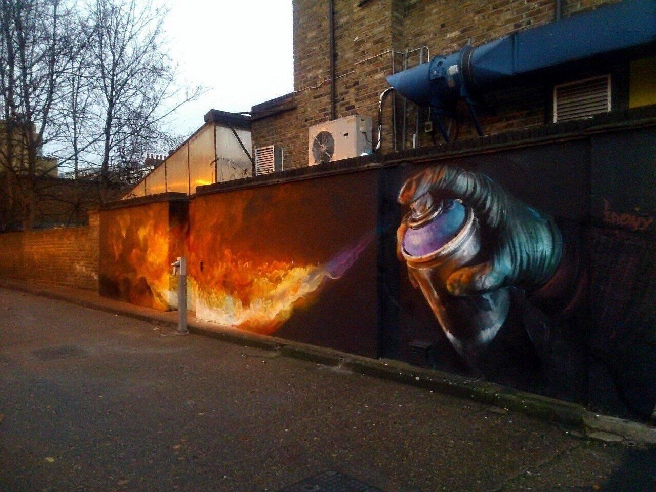 Mural w Londynie