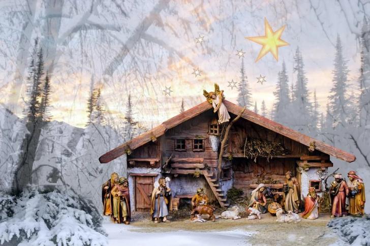piękna szopka Bożonarodzeniowa